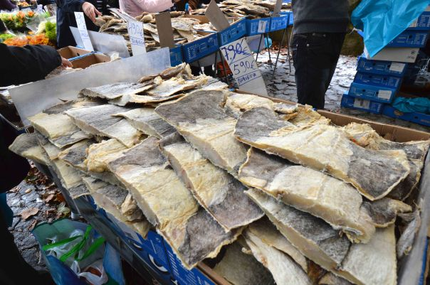 Cod in a local market -