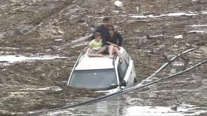 Toowoomba flood car