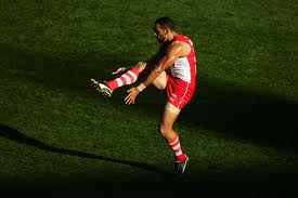 Adam Goodes kicking